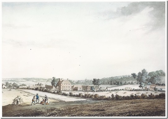 Photo:Gateford House, Nottinghamshire, from a watercolour by Samuel Heironymous Grimm (1733 - 1794)
